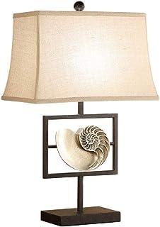 JEONSWOD Art Métal moderne irrégulière Lampe de table, Blanc Tissu Abat, Décoration Éclairage nuit dans la salle de séjour...