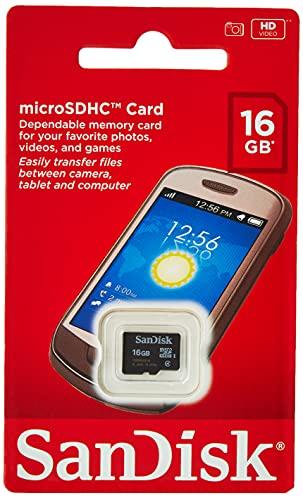 SanDisk SDSDQM-016G-B35 microSDHC 16GB Speicherkarte,Schwarz