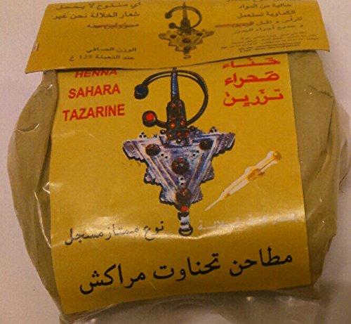 125 g di polvere organica naturale moroccano henné sahara tazarine Hair Dye, mano, body art