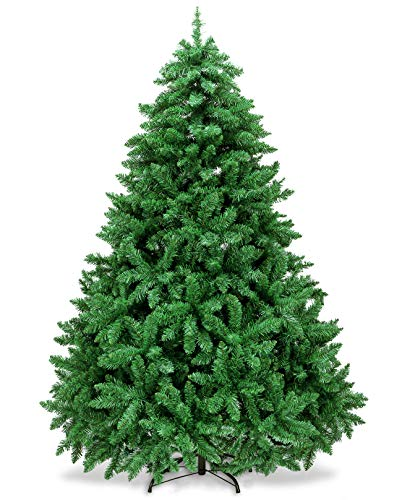AMS 5FT Christmas Trees Premium Artificial Xmas Pine Tree Holiday Decoration with 39FT 120 LEDs USB Copper Wire Light, 700 Branch Tips, Foldable Metal Stand (5 FT, Green)
