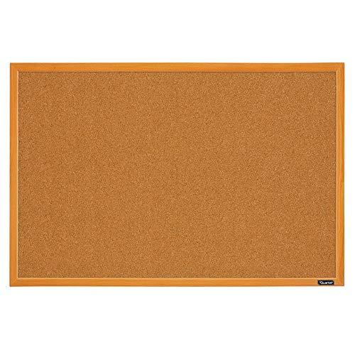 Quartet Corkboard, Framed Bulletin Board, 2' x 3' Cork Board, Oak Wood Finish Frame (MWDB2436-ECR), Oak Frame