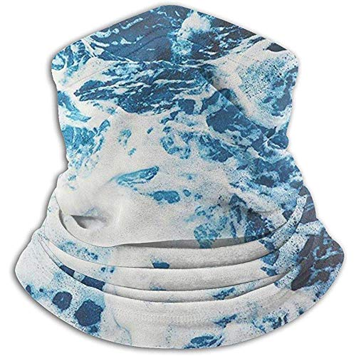 Archiba Blue Ocean Wave Neck Warmer Skin-Frindly Neck Gaiter Ski Mask Neck Gaiter Tube