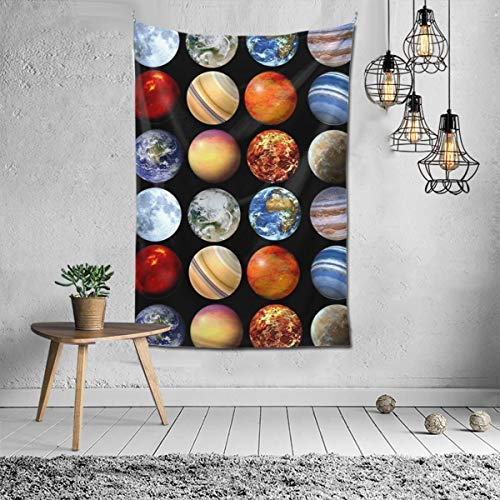 N / A Wall Hanging, Psychedelic Wall Art, Dorm Décor Beach Throw, Indian Wall Tapestries Art, Solar System Planets Space Science Astronomy