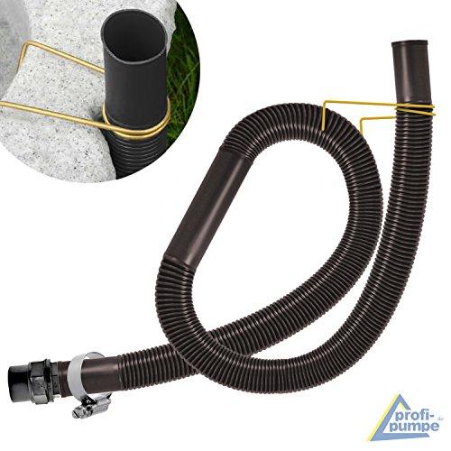 ENTNAHME-SET für REGENTONE und REGENFASS, für REGENWASSERTANK mit SCHLAUCH in grau/braun und WANDDURCHFÜHRUNG (ca. 32mm= 5/4 Zoll) (Braun)
