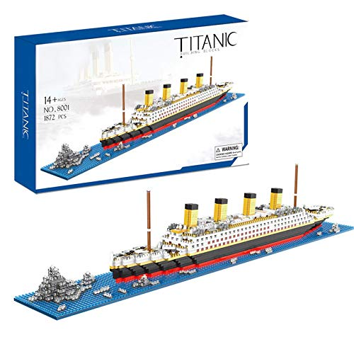 Titanic Toys Building Set Model Kit for Adults and Kids Mini Building Blocks 1872 Pieces with Color Package(New Version)
