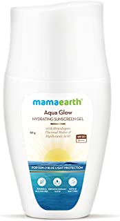 Mamaearth Aqua Glow Hydrating Sunscreen Gel with Himalayan Thermal Water & Hyaluronic Acid With SPF 50 PA++++ – 50g
