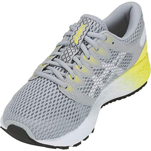 ASICS Women's Roadhawk FF 2 Running Shoes, 10M, MID Grey/White