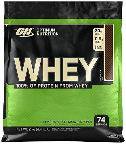 Optimum Nutrition ON Whey Proteina Isolate, Proteinas Whey en Polvo, Proteina de Suero para Masa Muscular y Musculacion, Bajo en Azúcar, Chocolate, 74 Porciones, 2kg