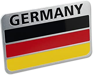 Generic Car Racing Sports GE Germany Flag Oblong Emblem Badge Decal Sticker