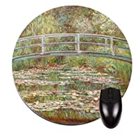 "Claude monet-bridge over a池の水lilies- 8 ""ラウンドmouse-pad / mouse-mat"