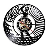 Reloj de Pared de Vinilo de Golfista Profesional, decoración de Club de Golf, Logotipo de Arte de Pared, Golfista, Golfista, Registro, Regalos para Hombres Sin LED