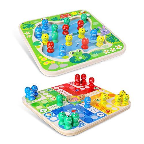 WFF Spielzeug Multifunktionale Zwei-in-one-Kleinkind-Spielzeug Holzspielzeug Fliegen Schach und magnetisches Angelspiel Lernspielzeug (Color : 1piece)