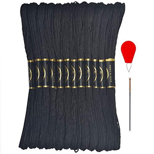 Black Embroidery Floss