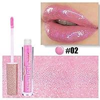 Alluole Lip Gloss Crystal Moisturizing Glitter Liquid Lipstick Shimmer Lip Glaze防水ノンスティックカップ
