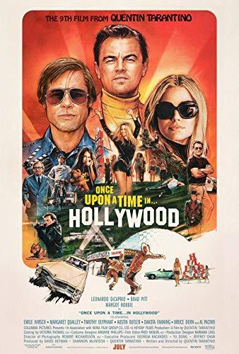 Una volta che c'era un tempo in Hollywood 18 - Poster Film - Migliore Riproduzione Art Qualità Decorazione Della Parete Regalo - Poster A4 (11,7/8,3 cm) - (30/21 cm) - Carta fotografica spessa lucida
