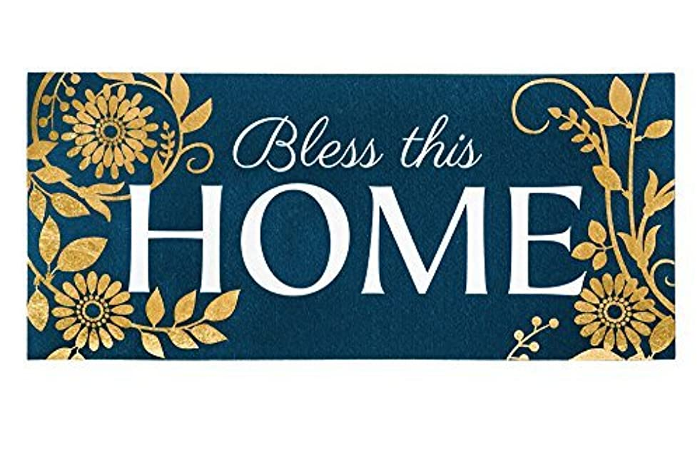 長さ利得囲むEvergreen Bless This Home Decorative Floor Mat Insert, 10 x 22 inches [並行輸入品]