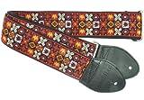 Souldier Gs0295bk02bk personnalisés USA faite à la main Woodstock Sangle de guitare électrique–Rouge/Noir