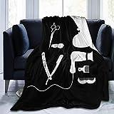 Shichangwei Couverture Polaire Barber Salon Hairdresser Love Ultra Soft Flannel Fleece Blanket Lightweight Warm Blanket (50'x40'/60'x50'/ 80'x60')
