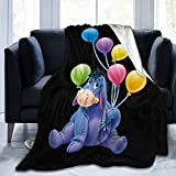 Eeyore Fleece Throw Blanket, Warm Throws for Winter Bedding, Couch and House Warming Decor 50'x40'