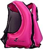 OMOUBOI Snorkel Vests Adults Inflatable Floatage Jackets Lightweight Kayak Buoyancy Vest Portable Floatage Vests for Diving Surfing Swimming Outdoor Water Sports (Suitable for 90-220lbs)