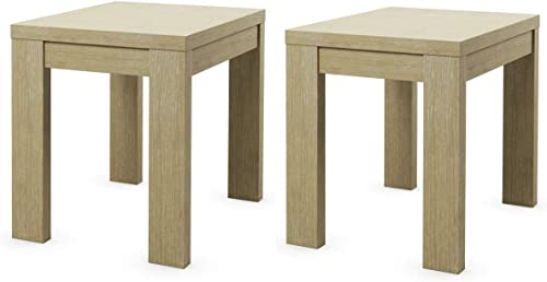new arrival Giantex sale Set of 2 End Table with Wood Frame and Heavy Duty Double Thick Table Top Nightstand for Bedroom, Living Room, Office, Balcony online and Kitchen Small Side Table(2, Oak) online sale