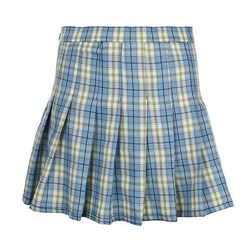 Hermosa Kilt Falda Escocesa Nueva Tendencia Callejera Viento Falda Escocesa A Cuadros Escoceses XL 3