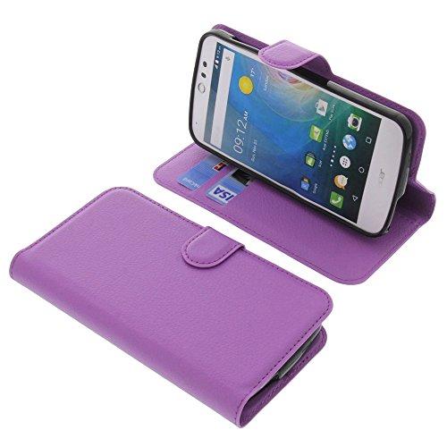 foto-kontor Tasche für Acer Liquid Z530 Liquid M530 Book Style lila Schutz Hülle Buch