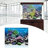 Precioso pez póster fondo de acuario, fondo de acuario negro, fondo de acuario, acuario para uso doméstico del ornamento del océano para acuario