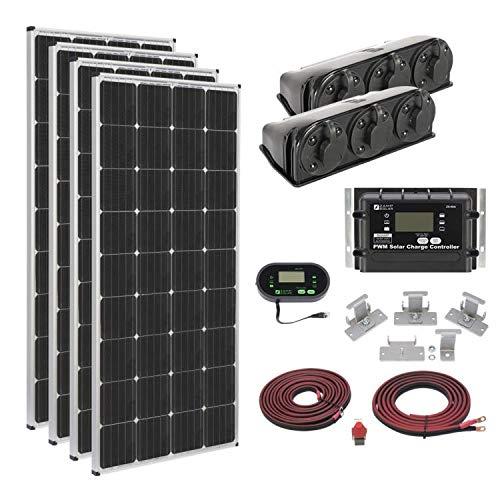 Zamp solar Legacy Series 680-Watt Roof Mount Solar Panel Kit with Digital Charge Controller. Off-Grid Solar Power for RV or Tiny House - KIT2014 (4 x 170-Watt Panels)