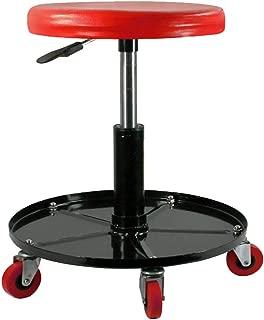 DHOUTDOORS Chariots de Visite et Tabourets /à roulettes-Chaise de M/écanicien Rouge avec Roulements /à Rouleaux-Tabouret sur roulettes