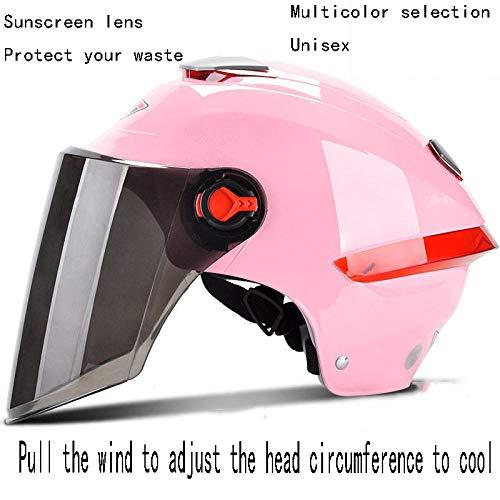 Casco para niños Edad 3 Casco de bicicleta para niños Casco de skate de certificación, Motocicleta, lluvia de protección solar para verano para hombres, sombrero de sol reflectante ligero para mujer
