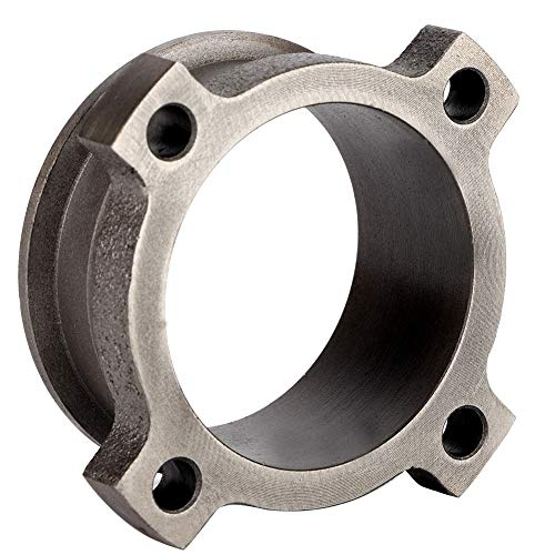 Suuonee V-Band Adapter, 3' 4-Bolt Exhaust Downpipe Flange to 3' V-Band Adapter Adaptor GT30 GT35 T3