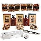 Modern Gourmet Foods, Set de Regalo Smokehouse, Prepara tu Propia Barbacoa Ahumada, Incluye Utensilios, Instrucciones y Condimentos