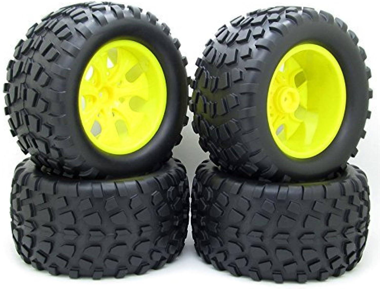 4X 130mm RC 1 10 Monster Truck Bigfoot Tyre Tires &12mm HEX Wheel Rim Hub for HSP