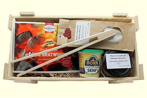 Selfmade Bratwurst Kiste ★ Starterset zur Herstellung von Thüringer Bratwurst ★ Geschenkidee ★ DIY