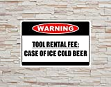SIBIAN Herramienta de advertencia de alquiler de tarifa retro de metal letrero nostálgico coche decoración de garaje hogar cocina bar decoración colgante 30 x 20 cm