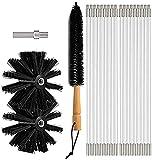 MXDJ Kit de deshollinador de 16 Pulgadas, Kit de Herramientas de Limpieza de Chimenea de Cepillo de Chimenea para conducto de ventilación de Limpieza de Chimenea (Color : 18 Rods, Size : 410mm)