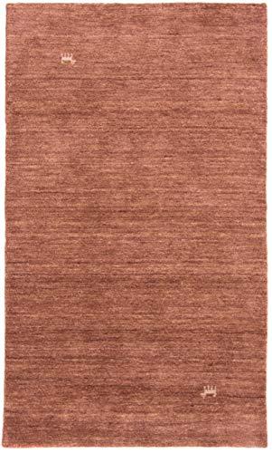 CarpetFine: Gabbeh Loom Teppich 200x300 cm Braun - Einfarbig