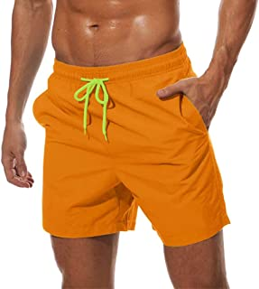 MAGCOMSEN Men's Quick Dry Swim Trunks with Mesh Lining Beach Shorts Boardshorts Bathing Surfing Shorts 3 Pockets