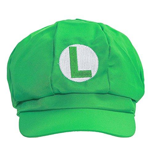 New Version Super Mario Bros Unisex Hat Cap Luigi Hat Green
