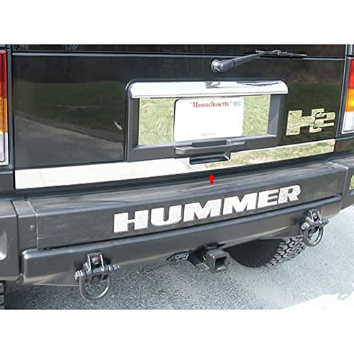 Upgrade Your Auto 1pc. Luxury FX Chrome Rear Tailgate Trim for 2003-2009 Hummer H2