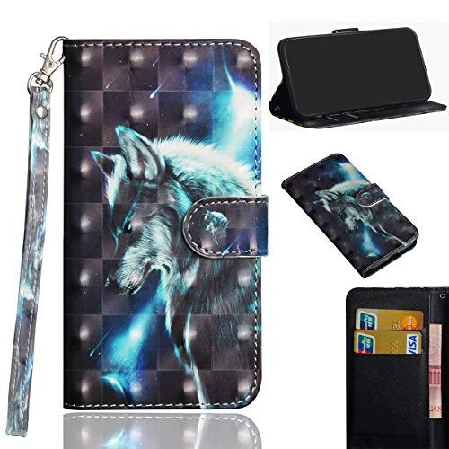 SHUYIT Handyhülle für Huawei P40 Pro Hülle Leder, Bunt 3D PU Leder Tasche Klapphülle Brieftasche Ständer Kartenfach Magnetisch Flip Case Cover Schutzhülle für Huawei P40 Pro Handy Hüllen