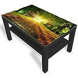 DekoGlas IKEA Table d'appoint en Verre avec Plateau en Verre Automne Park Toutes Tailles