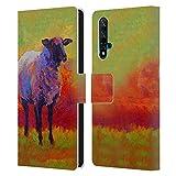 Head Case Designs Licenza Ufficiale Marion Rose Astratto Suffolk 2 Pecora Cover in Pelle a Portafoglio Compatibile con Huawei Nova 5T