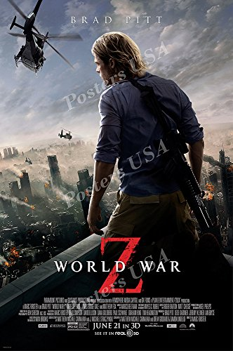Posters USA - World War Z Movie Poster GLOSSY FINISH - MOV728 (24' x 36' (61cm x 91.5cm))