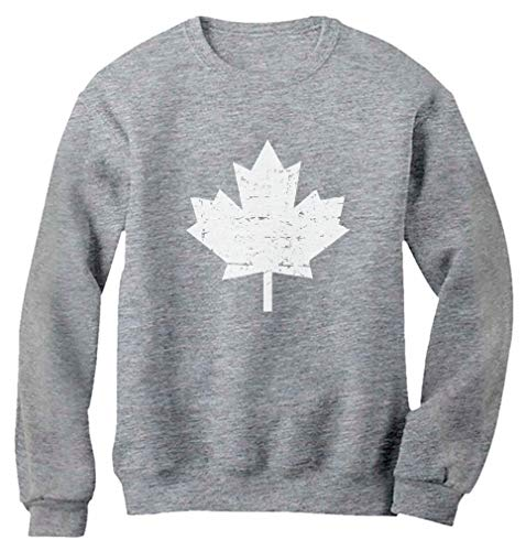 Canada Maple Leaf Canadian Pride Patriotic Canada Day Women Sweatshirt Medium Gray