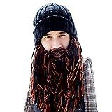 Beard Head Barbarian Roadie Beanie - Original Handmade Knit Hat and Removable Beard