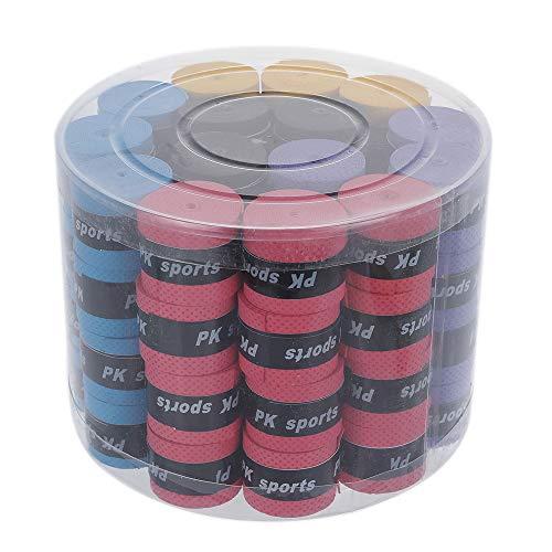 Chnrong - Cinta de agarre para raqueta de tenis, 60 unidades, agarre absorbente, raqueta de bádminton, cinta de agarre antideslizante, para bádminton Racquetball Grip, varios colores