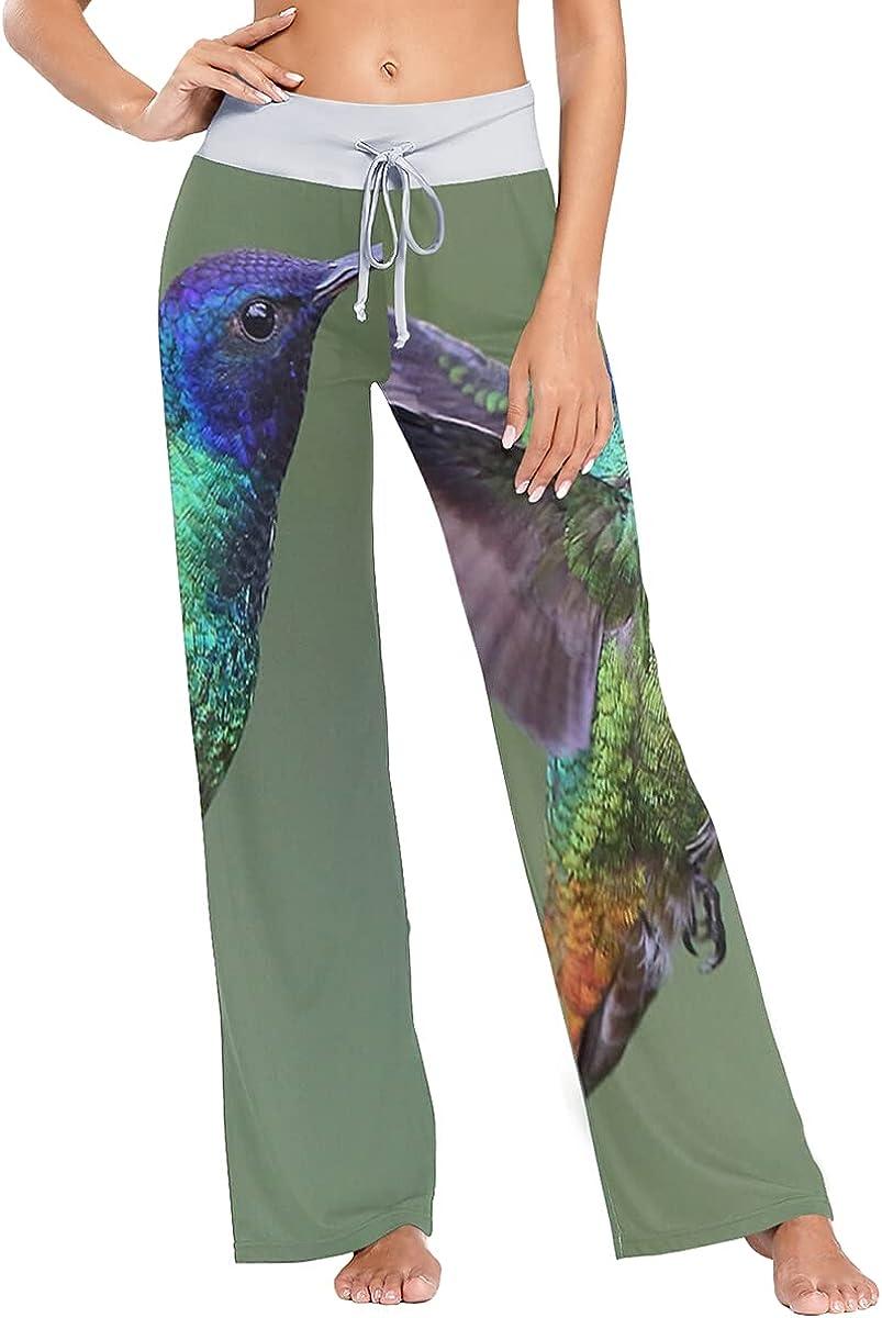 Sale SALE% OFF QUZtww Hummingbird Pajama Pants Stretch Leg Wide Sleep Trousers Popular