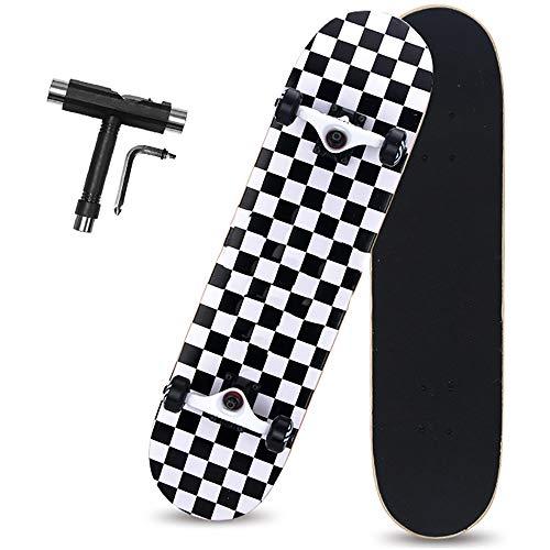 Skateboard pro completo, monopatín de arce canadiense de 8